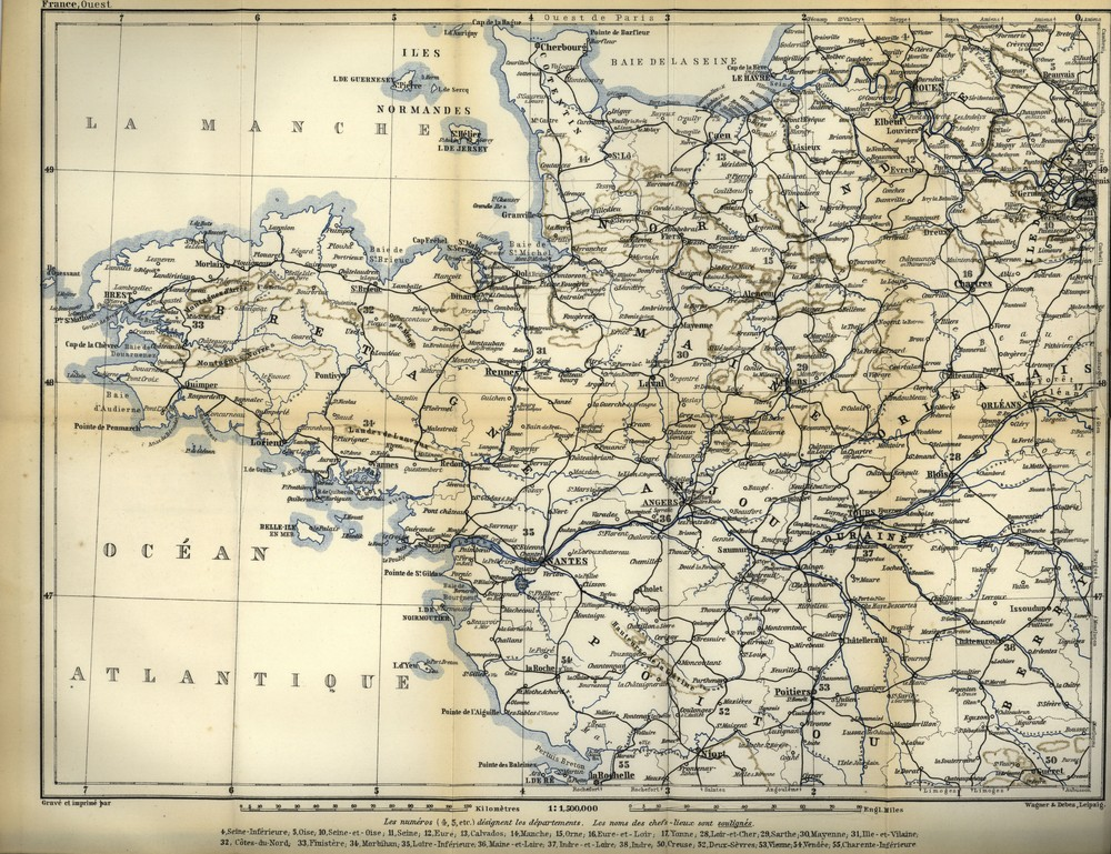 Northern France, from Belgium and the English Channel to the